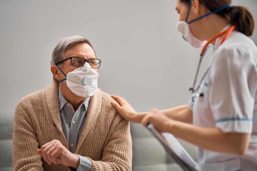 Doctor,And,Senior,Man,Wearing,Facemasks,During,Coronavirus,And,Flu