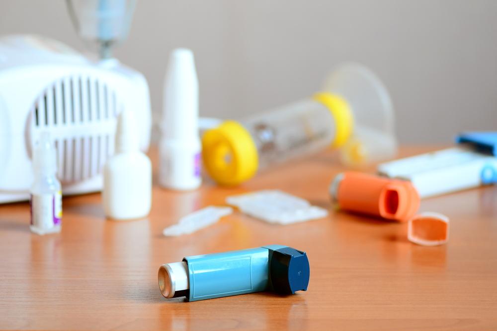 Medical,Equipment,And,Medicines,For,Treatment,Of,Asthma.,Nebulizer,,Inhaler,